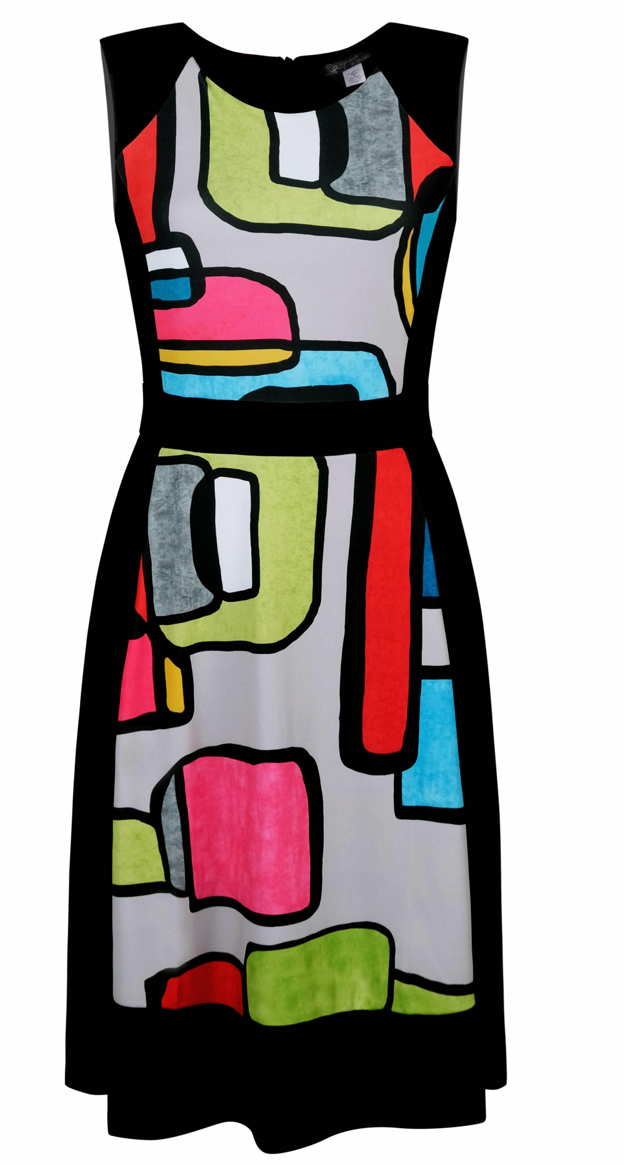 Simply Art Dolcezza: Mid Century Vibrant Romance Abstract Art Dress