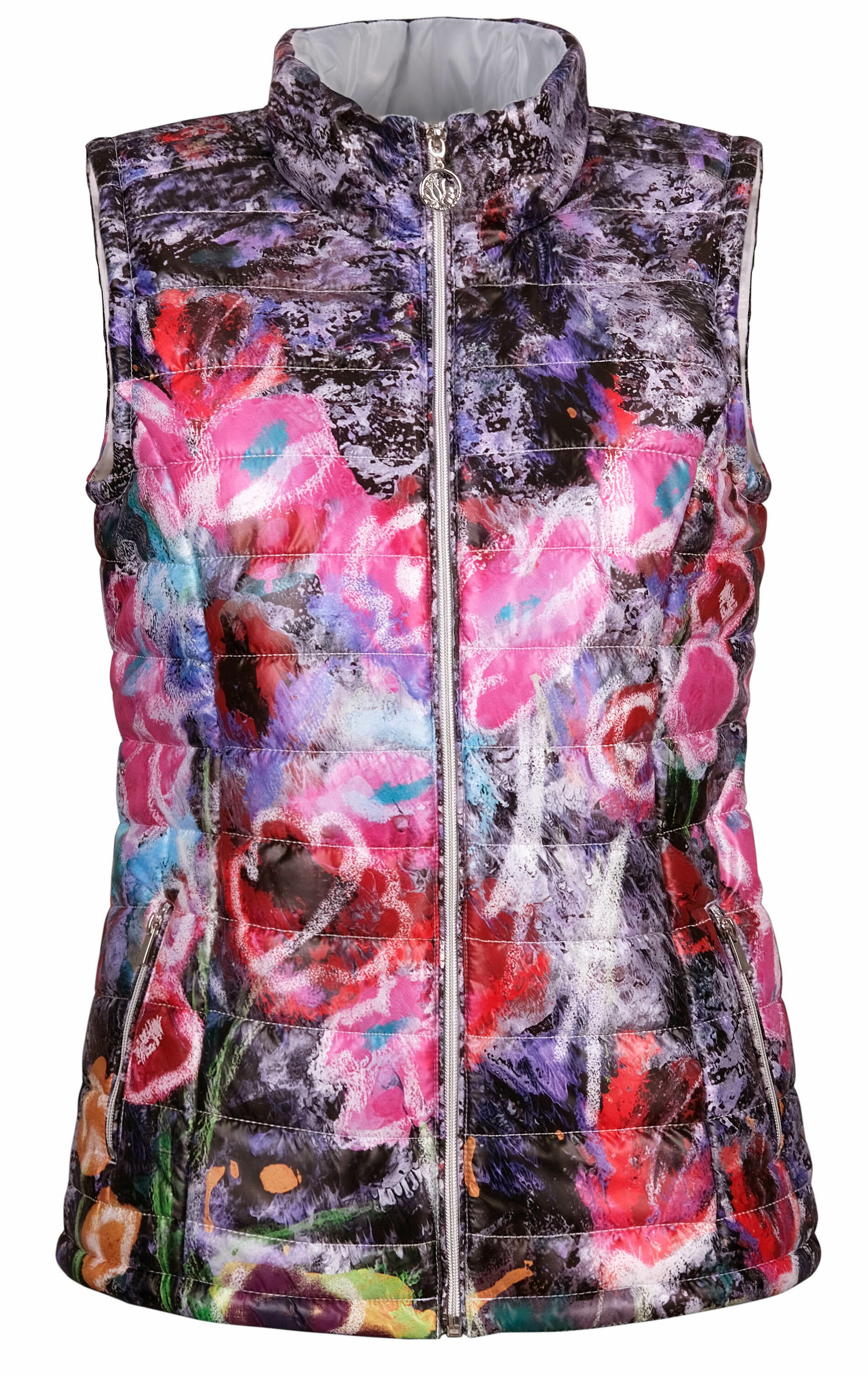 Simply Art Dolcezza: Wildest Flowers Abstract Art Puffer Vest DOLCEZZA_SIMPLYART_20800