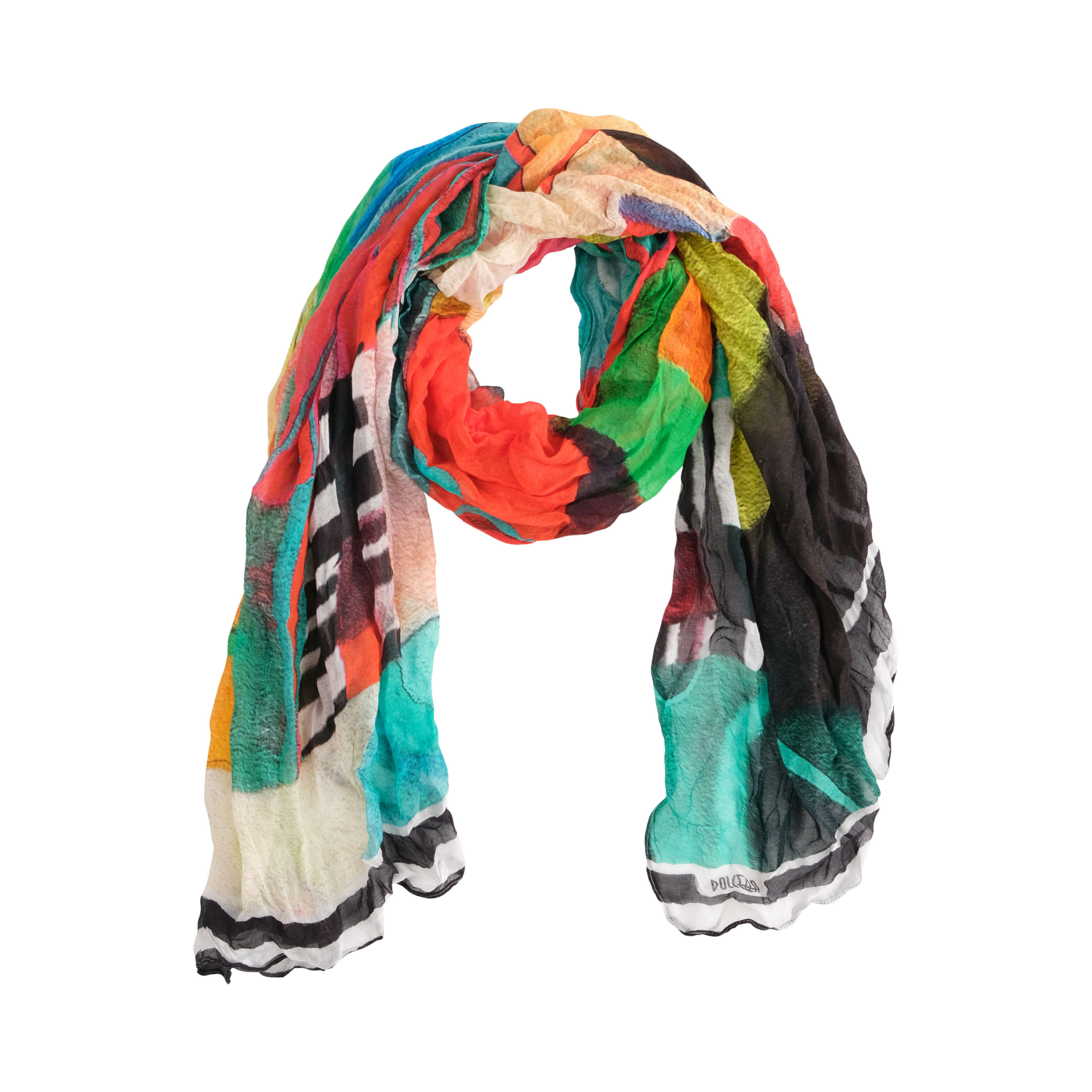 Simply Art Dolcezza: Relaxing In Red Abstract Art Scarf (1 Left!) Dolcezza_SimplyArt_20905