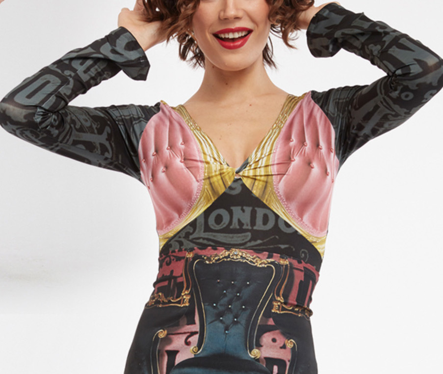 IPNG: Pink Emerald Furniture Gossips Illusion Tunic Blouse
