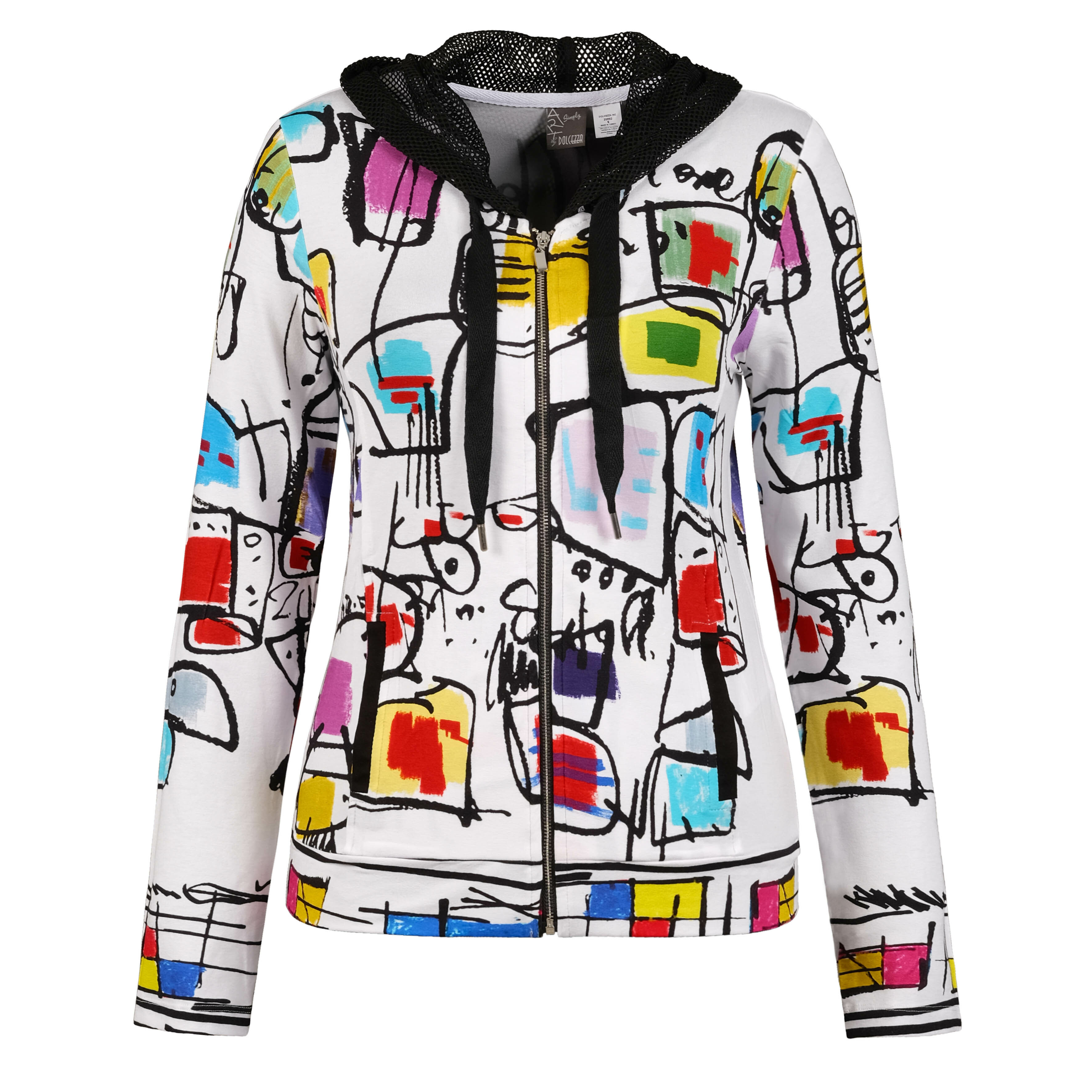 Simply Art Dolcezza: Etagere & Miss Eze Printed Hoodie Jacket (2 Left!) Dolcezza_SimplyArt_20692