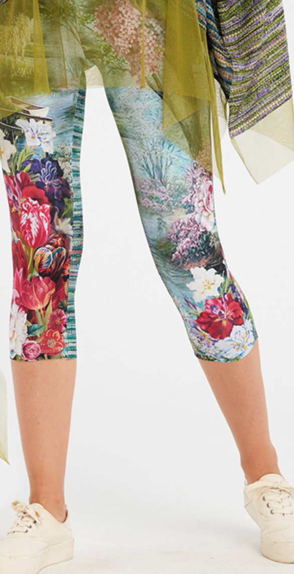 IPNG: In Paradiso Cherry Carnation Illusion Cropped Legging