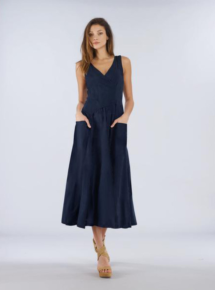Luna Luz: Cross Over Bodice Long Dress (NEW Spring 2020 Colors!) LL_516_N2