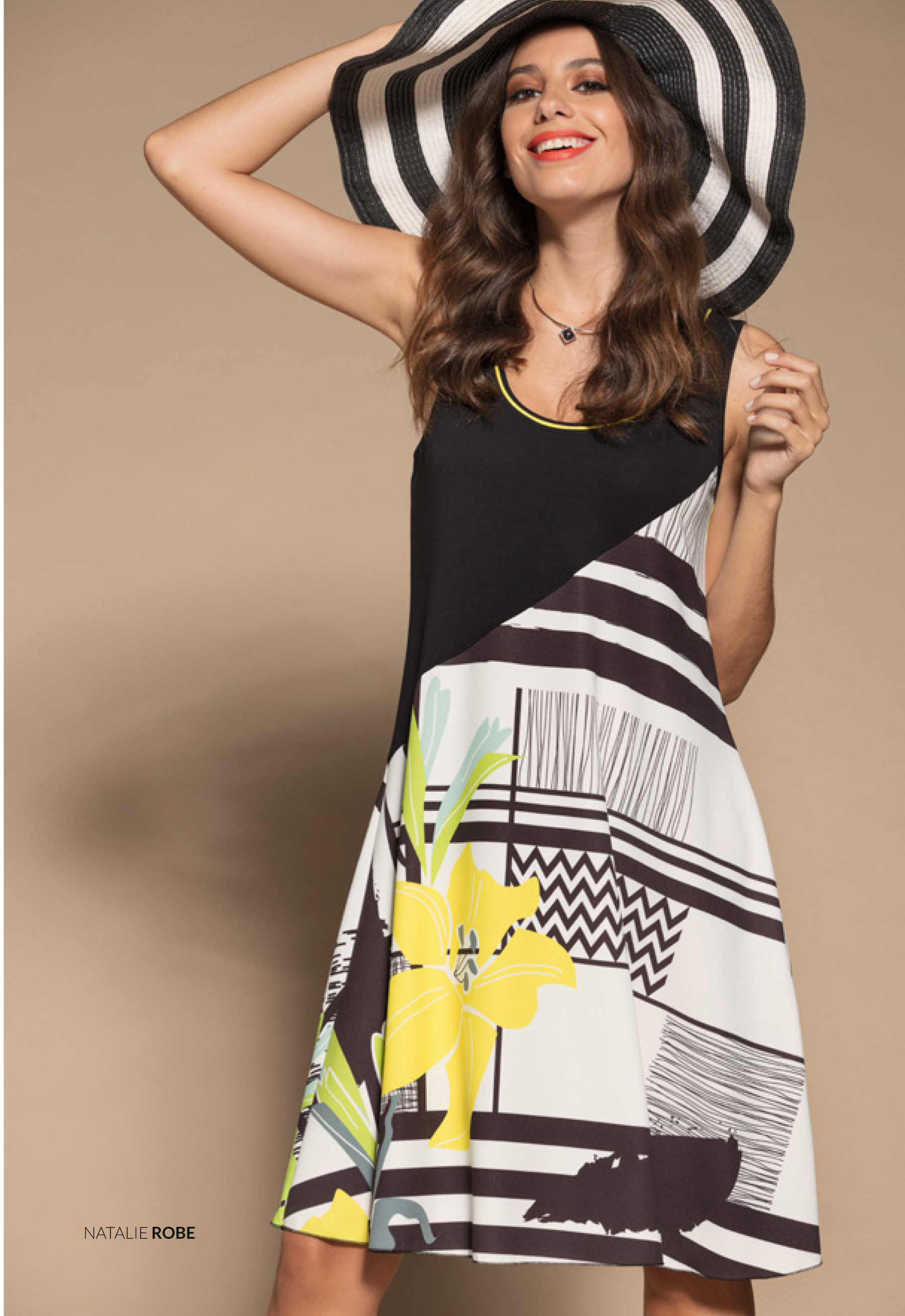 Maloka: Lemon Lime Marble Asymmetrical Bodice Dress/Tunic (Comes In 2 Art Patterns!) MK_NATALIE