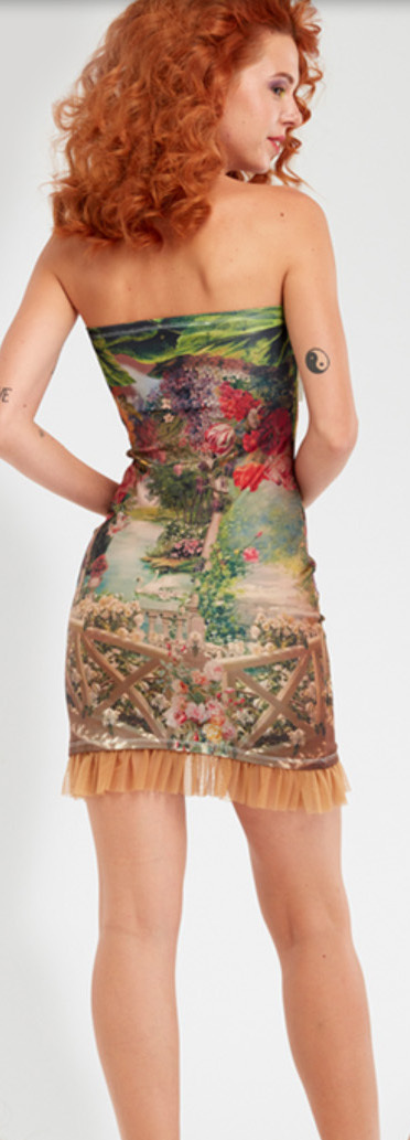 IPNG: In Paradiso Cherry Carnation 3D Illusion Mini Dress/Tunic (Some Ship Immed!)