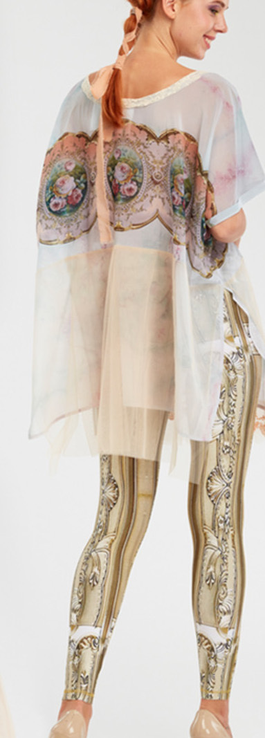 IPNG: Inna Me Diamond Illusion Long Tunic Blouse (Ships Immed, 1 Left!)