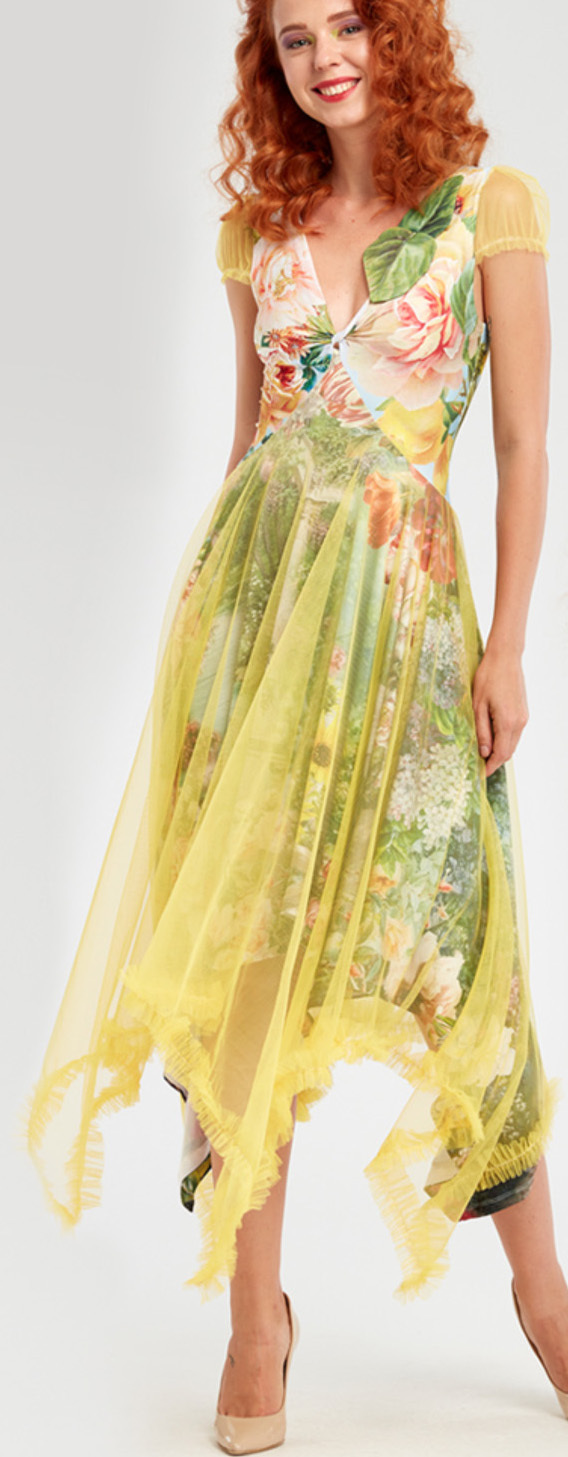 IPNG: Carnations Wrapped In Paradiso Four Corners Gown IPNG_IPDFC-067