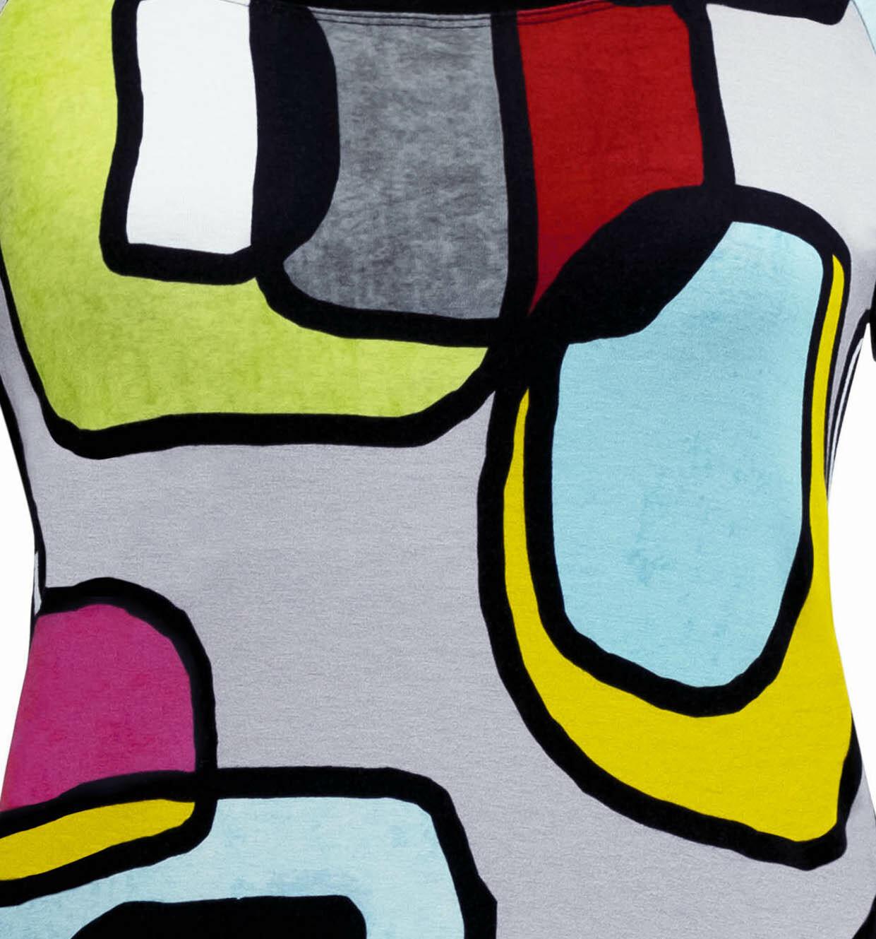 Simply Art Dolcezza: Mid Century Vibrant Romance Abstract Art Tunic