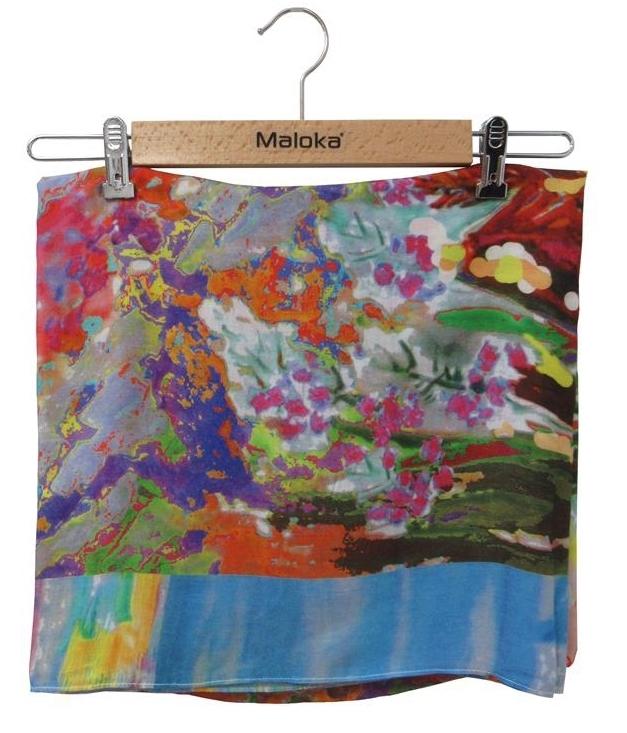 Maloka: Pink Isles Abstract Art Scarf (Many Art Patterns!) MK_FRANKIE_SCARF