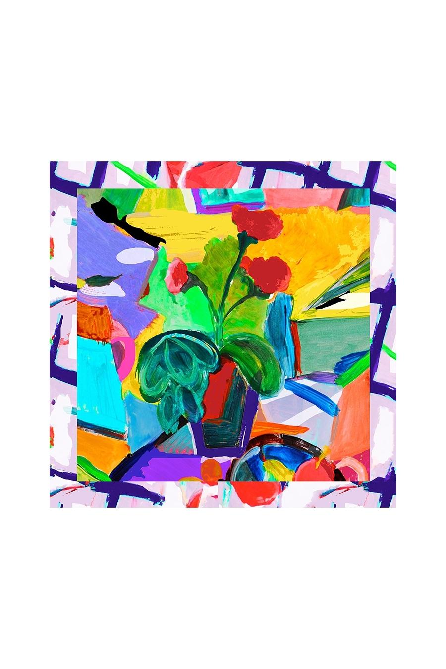 Maloka: Pink Isles Abstract Art Scarf (Many Art Patterns!)
