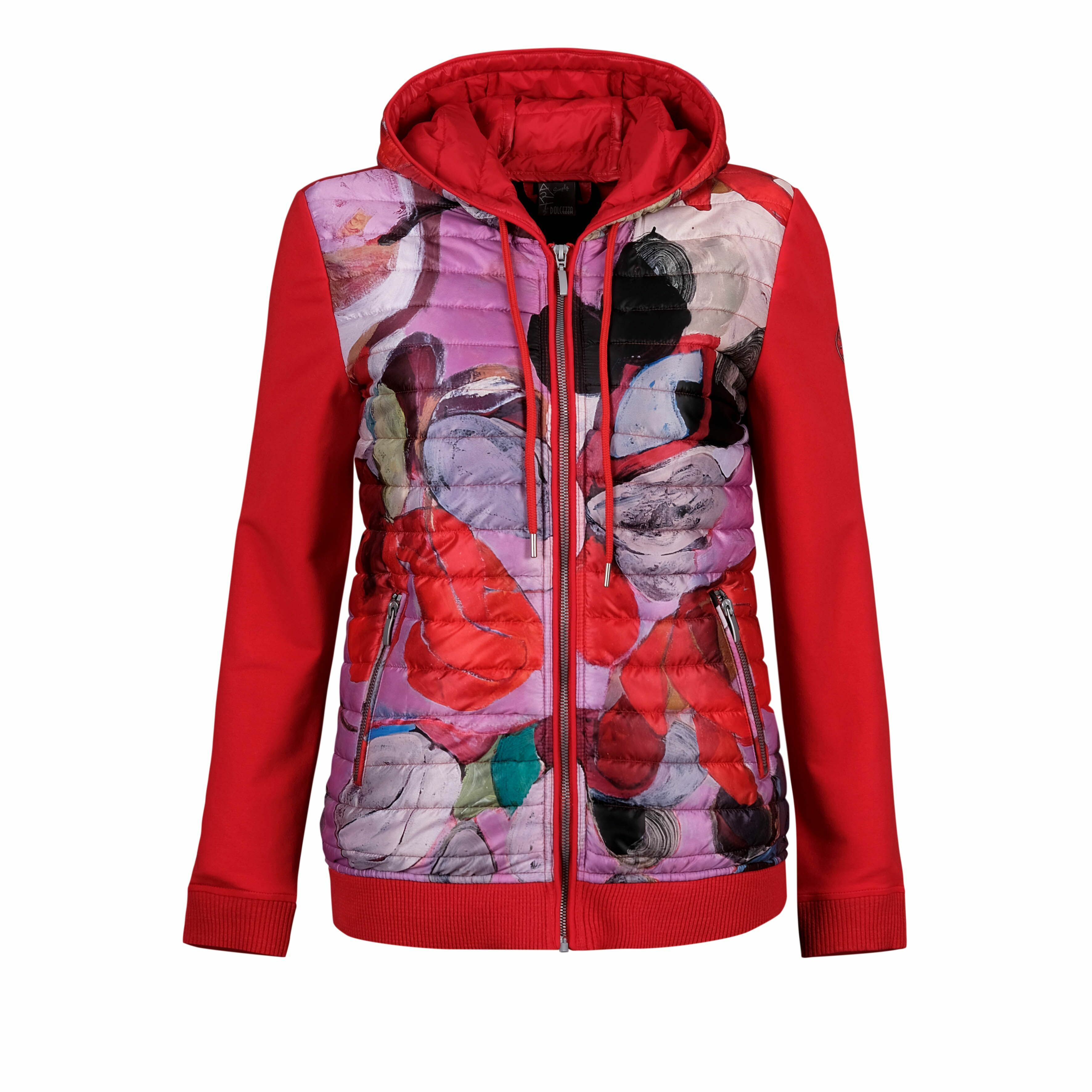 Simply Art Dolcezza: Blooms In Rouge Abstract Art Hybrid Jacket DOLCEZZA_SIMPLYART_20811