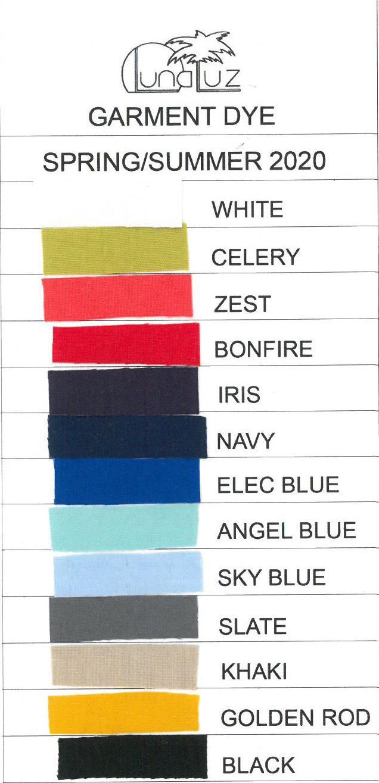 Luna Luz: Godet Dyed Square Neck Dress (NEW SS2020 Colors!)