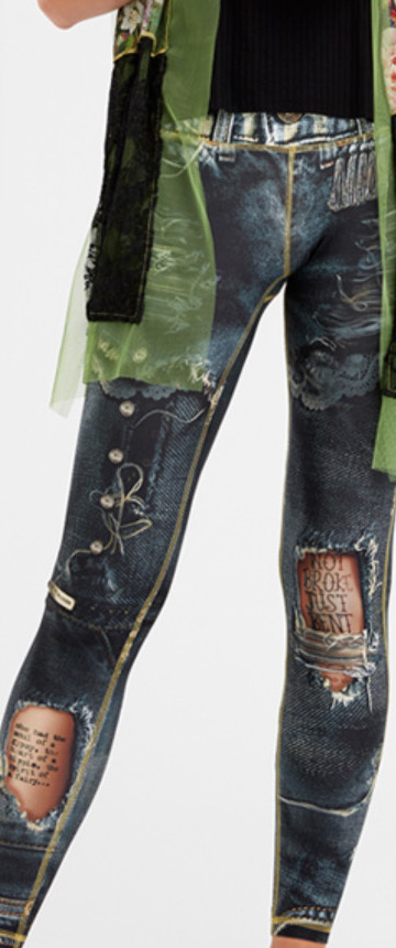 IPNG: Not Broke, Just Bent Denim Fairytale Illusion Leggings (Many Colors, Some Ship Immed!)