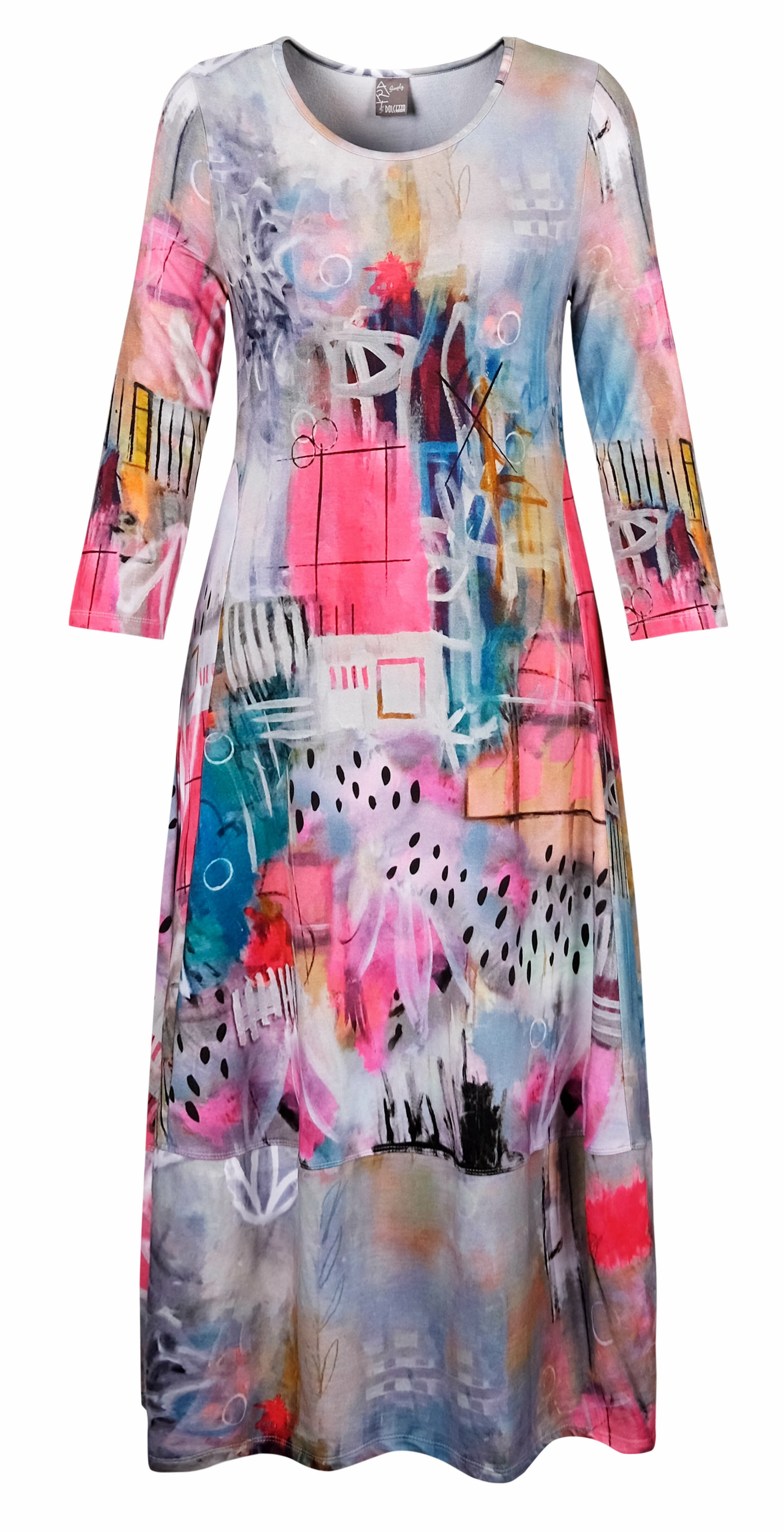 Simply Art Dolcezza: Receive The Best Things In Life Abstract Art Dress DOLCEZZA_SIMPLYART_20673