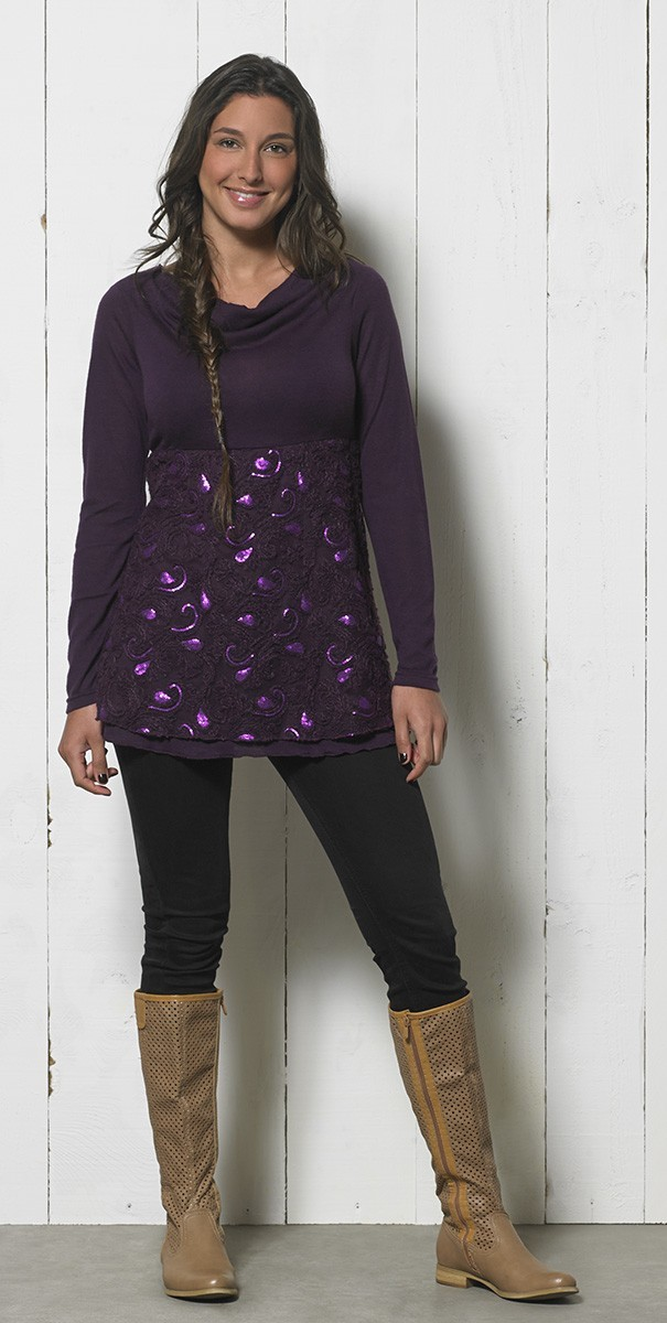 Coline Paris: Magical Shimmer Sweater Tunic COLINE_14374
