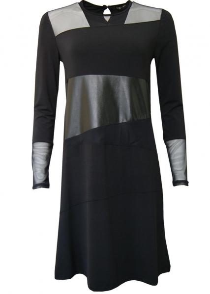 Double Jeu Paris: Liquid Leather & Lace Dress Low Quantity! DJ_ROBE_RING_NOIR