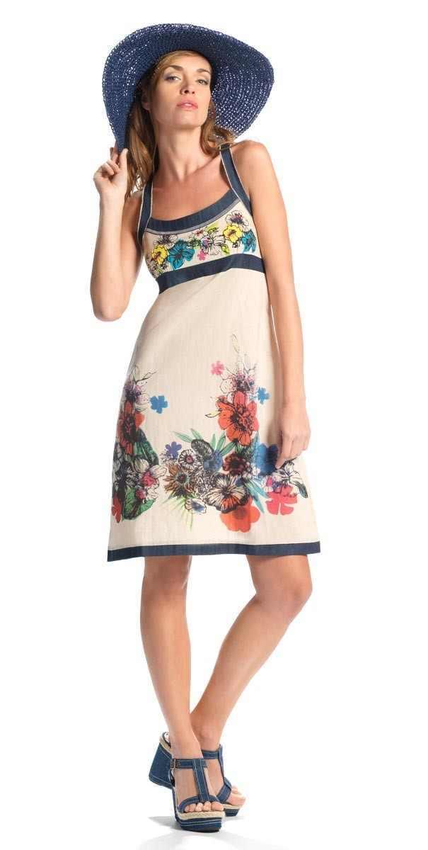 Coline: Creme De La Flowers Sundress (1 Left!) COLINE_RO13911_NATURAL