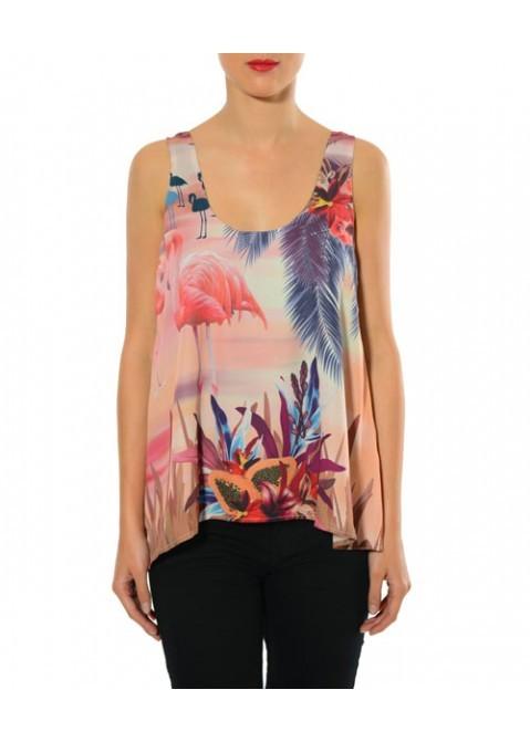 Smash! Spain: Wild Flamingo Asymmetrical Tunic (Almost Gone!) SMASH_s1540109