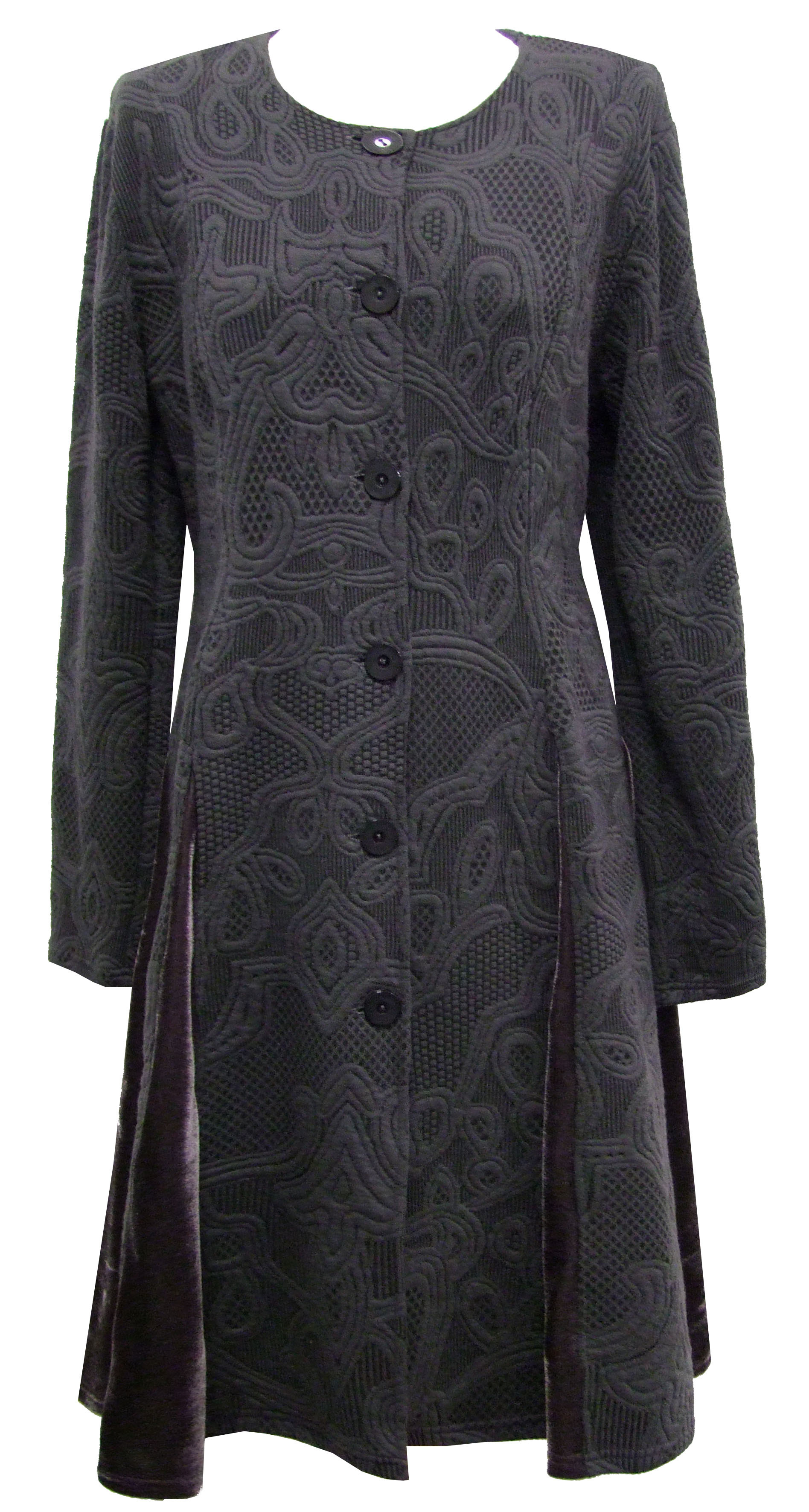 Maloka: White Diamond Jacquard Coat (Few Left, More Colors!)