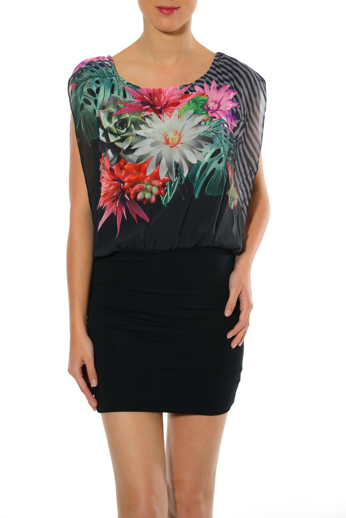 Smash! Spain: Georgette Bouquet Cocktail Dress Low Quantity! SMASH_S1561116