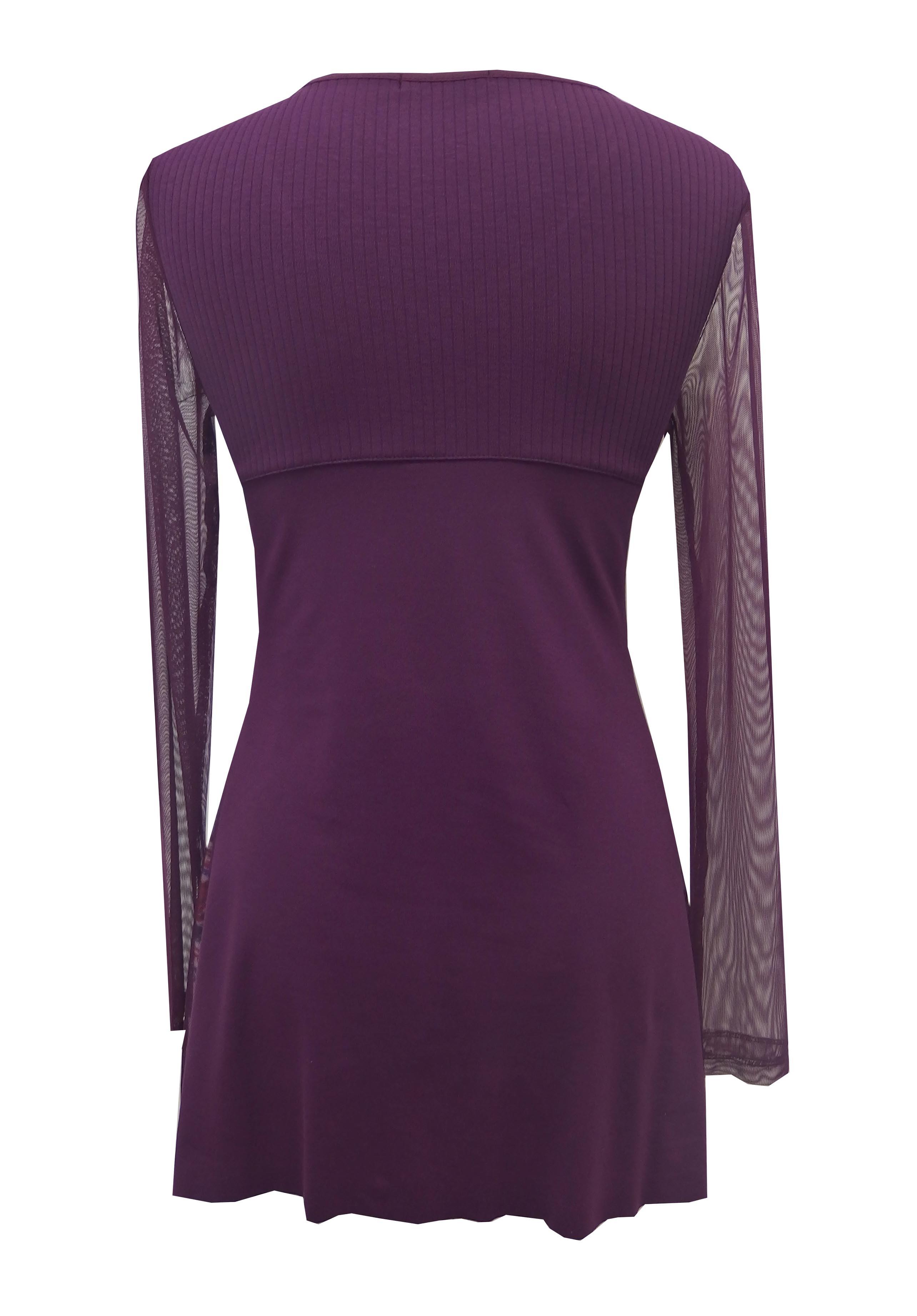 Maloka: Asymmetrical Diamond & Princess Lace Tunic (Only Purple Left)