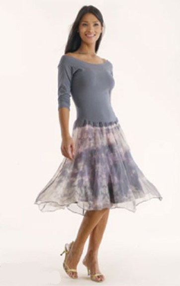 Luna Luz: Enchanting Silk Organza Tied & Dyed Short Dress (Few Colors Left, All Ship Immed!) LL_664D