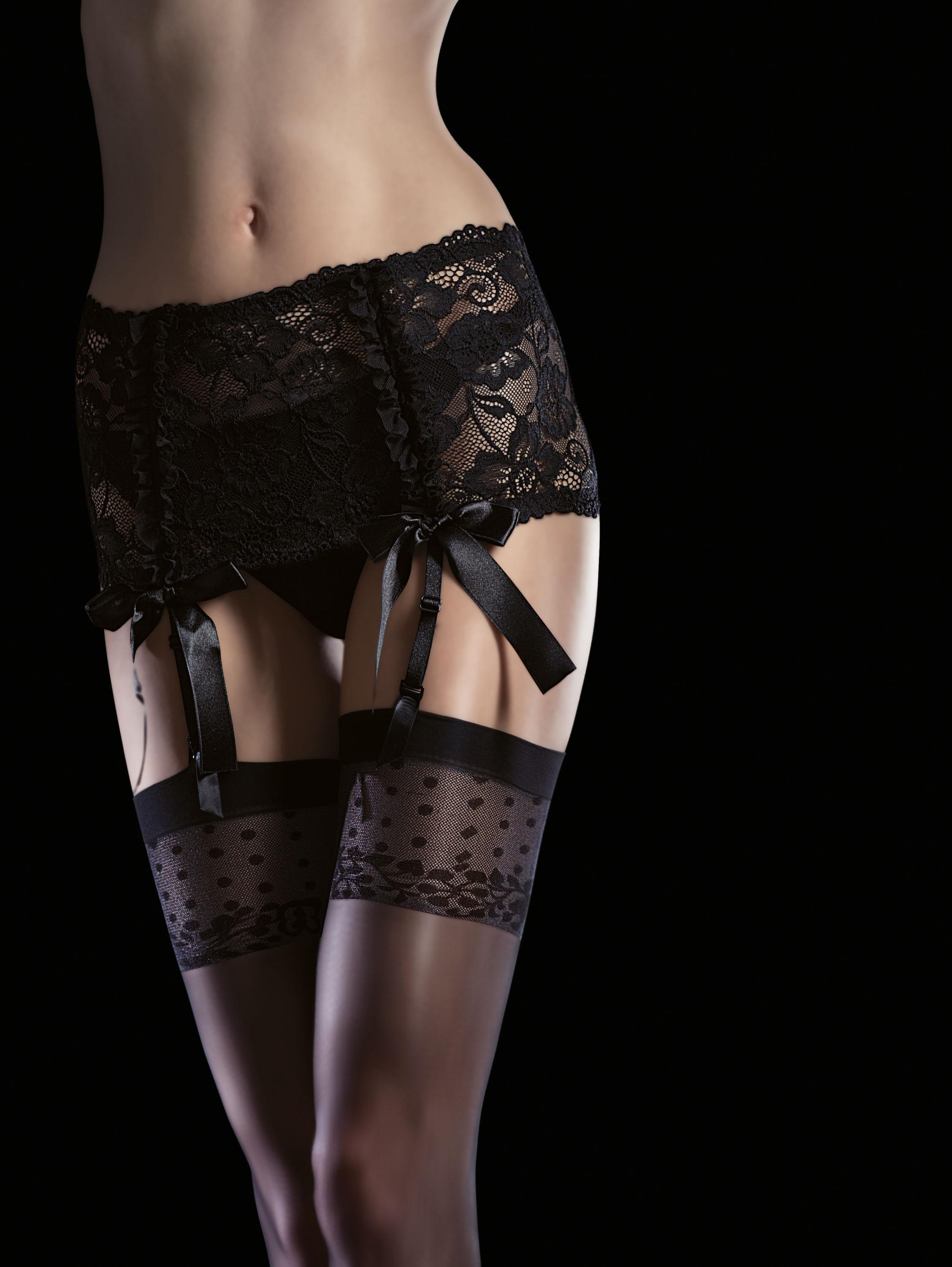 Fiore: Flower Patterned Matte Finish Stockings (Few Left!) FIO_ISIS