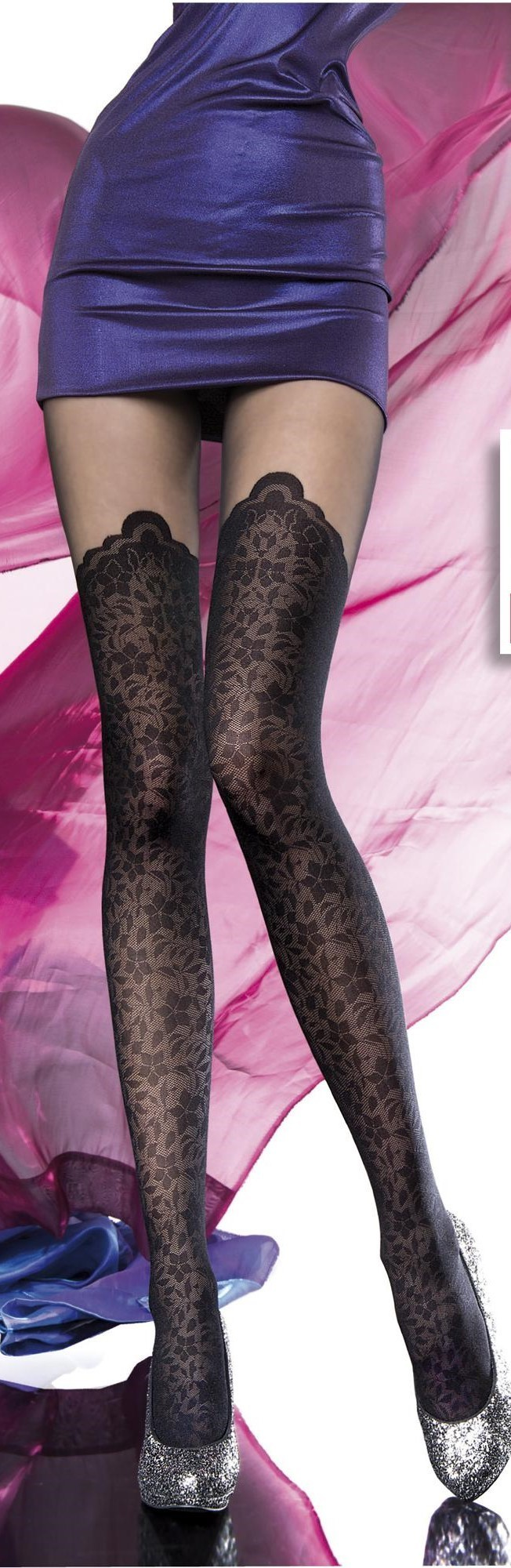Fiore: Sensual Rose Petal Patterned Tights SOLD OUT FIO_ASITA