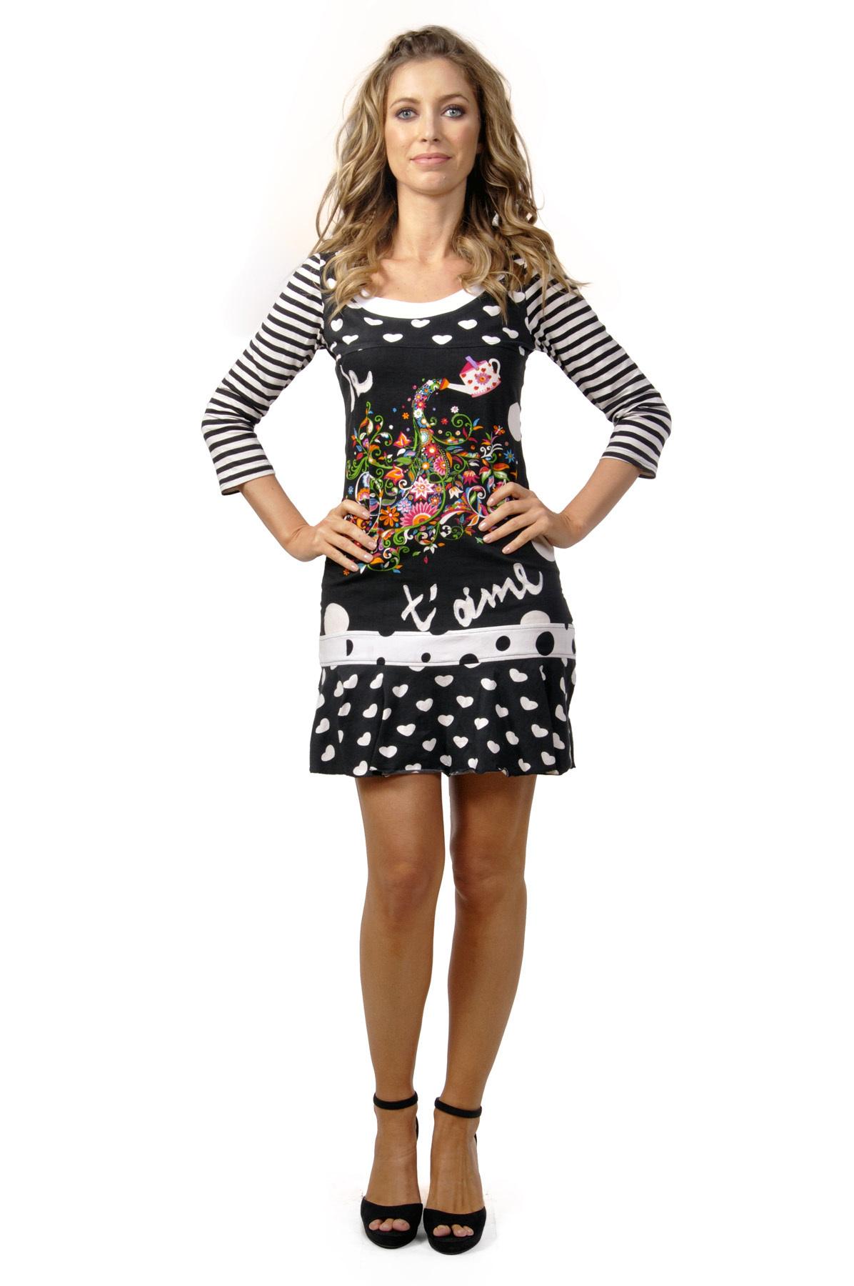 Savage Culture: Wonderland Rose Garden Embroidered Short Dress Carolina (1 Left!) SAVAGE_30212