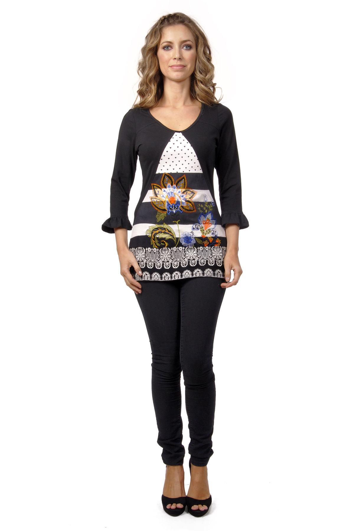 Savage Culture: Lady Evelyn Arabesque Tunic with Tulip Sleeves SAVAGE_30080