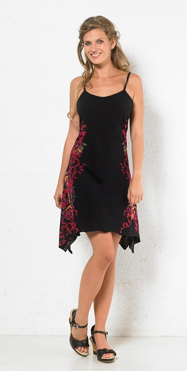 Coline: Asymmetrical Twisted Flower Sundress COLINE_RO14953