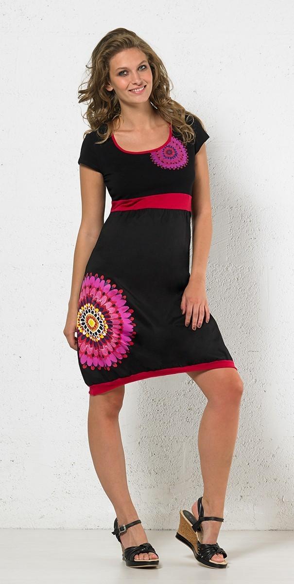 Coline: Fancy Fuchsia Dress/Long Tunic (3 Left!) COLINE_RO14946_N