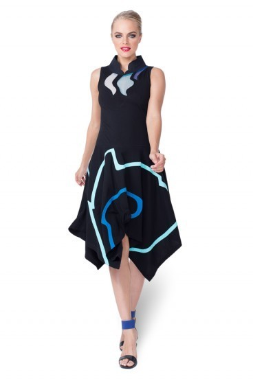 Pygmees Paris: Asymmetrical Sultry Geisha Dress TT1589_N