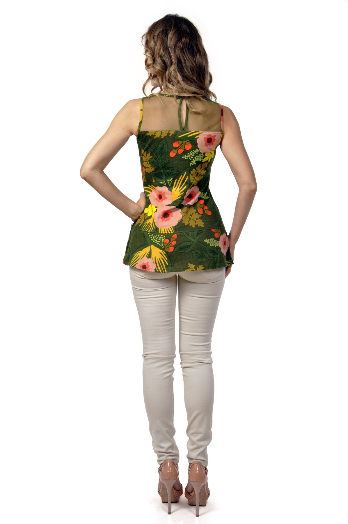 Savage Culture: Pink Hibiscus In The Rainforest Tunic Irania