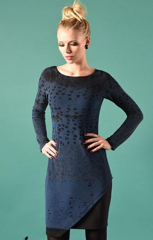 Eroke Italy: Asymmetrical Shades of a Midnight Sky Dress EROKE_ABD51_N2