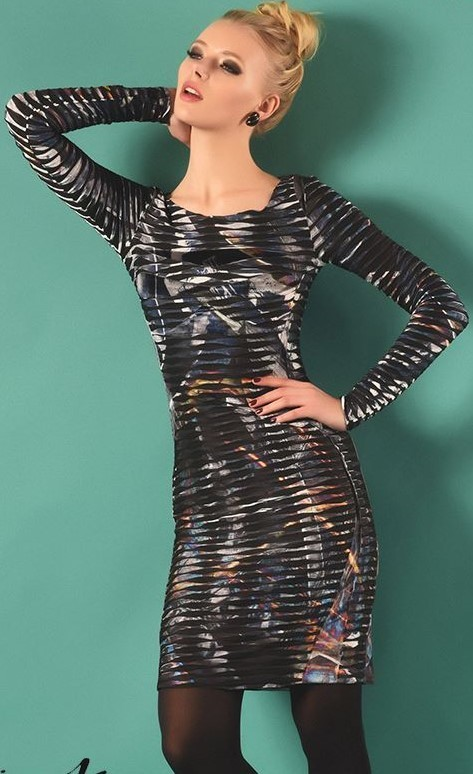 Eroke Italy: Crinkled Lightning Storm Dress (1 Left!) EROKE_ABD85_N
