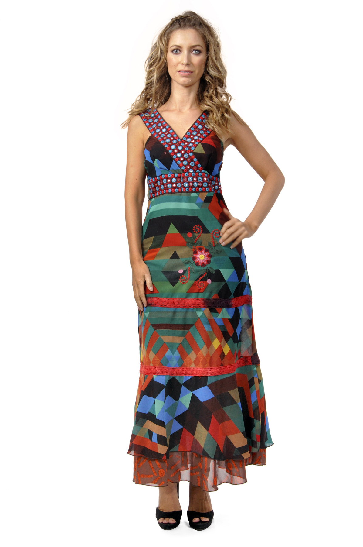 Savage Culture: Seductive Colors Silvia Maxi Dress SAVAGE_30124_N