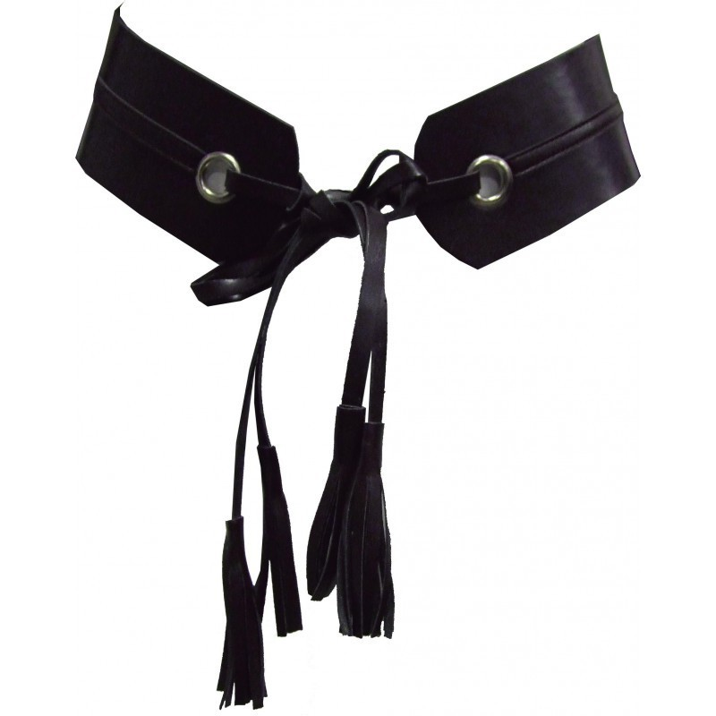 Maloka: Liquid Leather Pom Pom Belt MK_CENTURE_POMPOM_N1