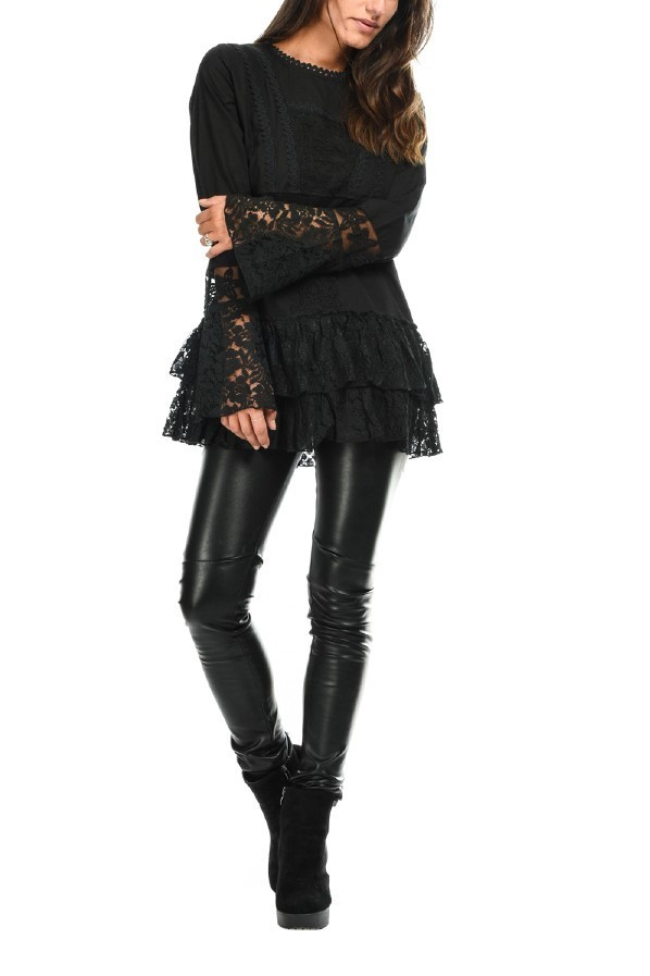 Savage Culture: Luscious Montse in Embroidery & Ruffles Tunic (1 Left!) SAVAGE_31140