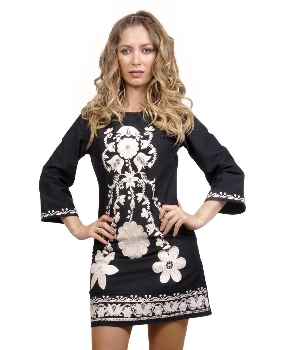 Savage Culture: Snowflakes Odile Embroidered Dress (1 Left!) SAVAGE_31241