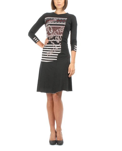 S'Quise Paris: Crinkled Hem & Cuffed Midi Sweater  Dress (1 Left!) SQ_1546_N