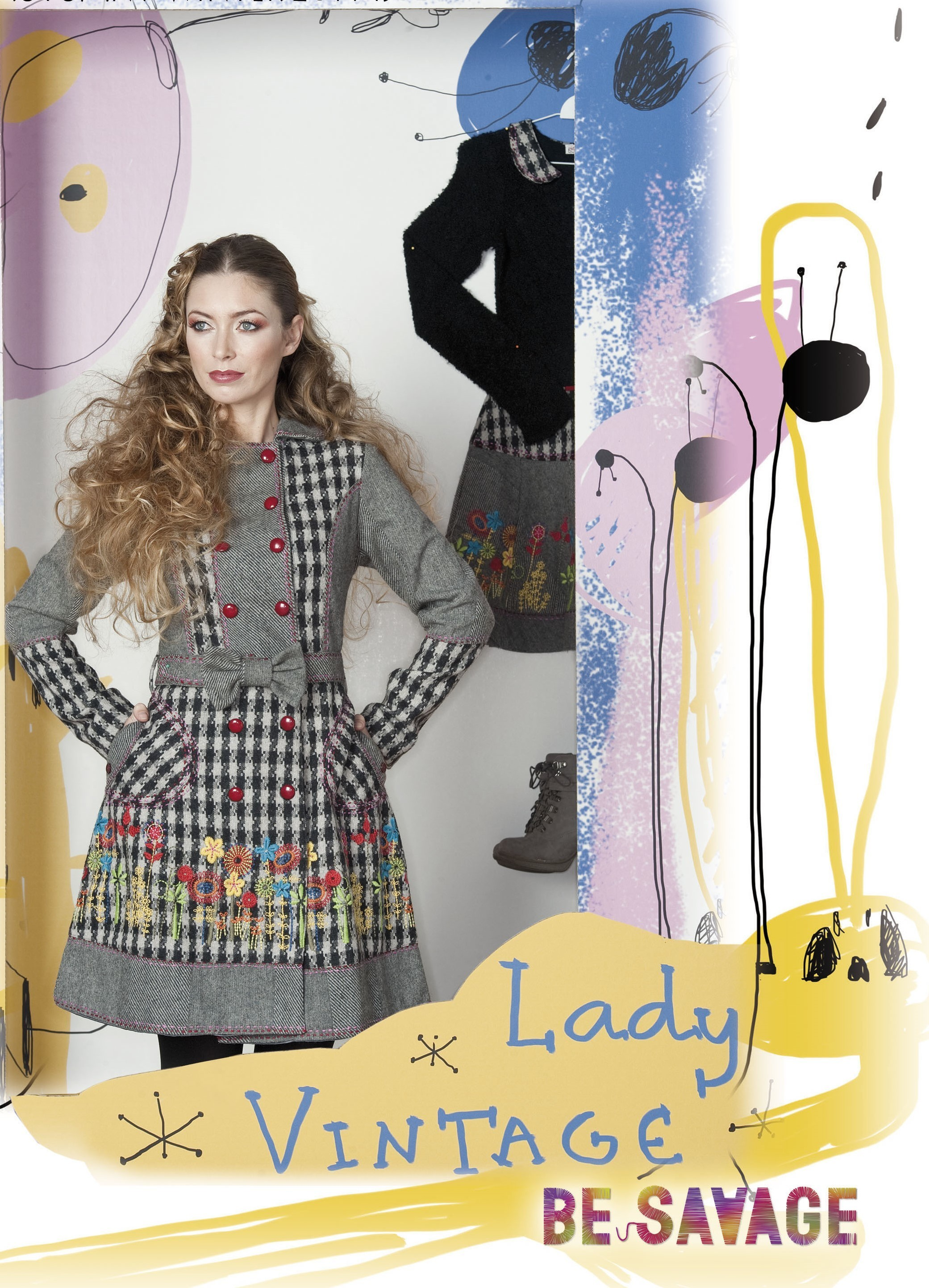 Savage Culture: Lovely Wool Bow Coat Anita (1 Left!) SAVAGE_27004_N1