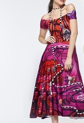 IPNG: Alice In Pink Wonderland Off-The-Shoulder Dress (Ships Immed, 1 Left!)