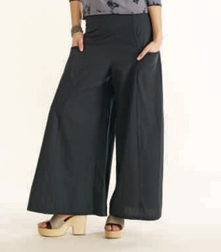 Luna Luz: Wide Leg Dyed Pocket Pant (Ships Immed in Navy & Pale Grey!) LL_190_N1