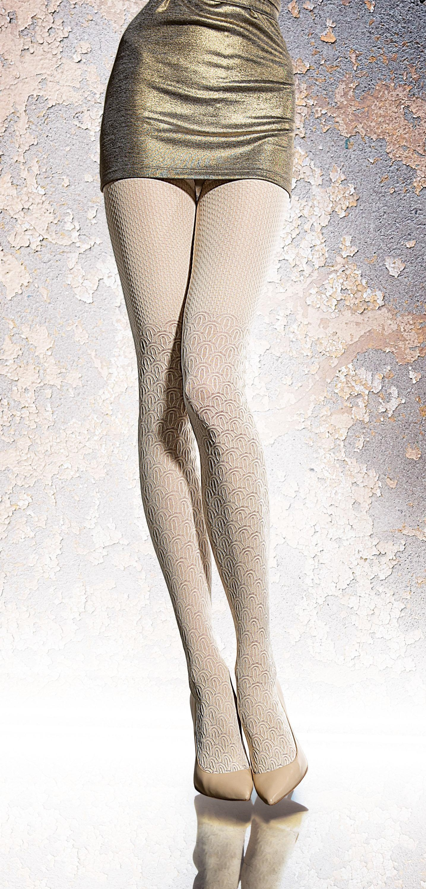 Fiore: French Creme 3D Opaque Tights FIO_VADIMA_N