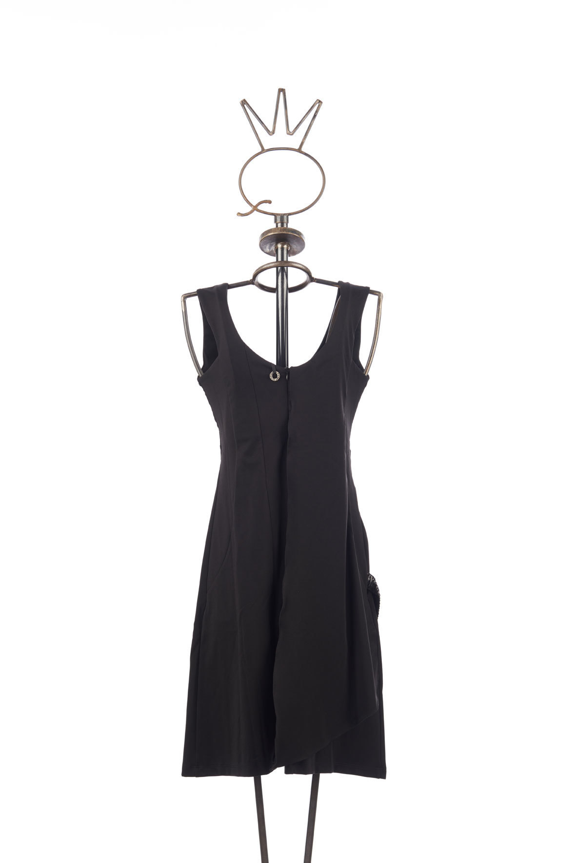 Save the Queen: Asymmetrical Draped Black Bow Dress (1 Left!)