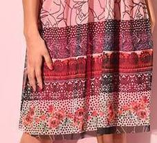 Eroke Italy: Pink Sangria Pleated Dress