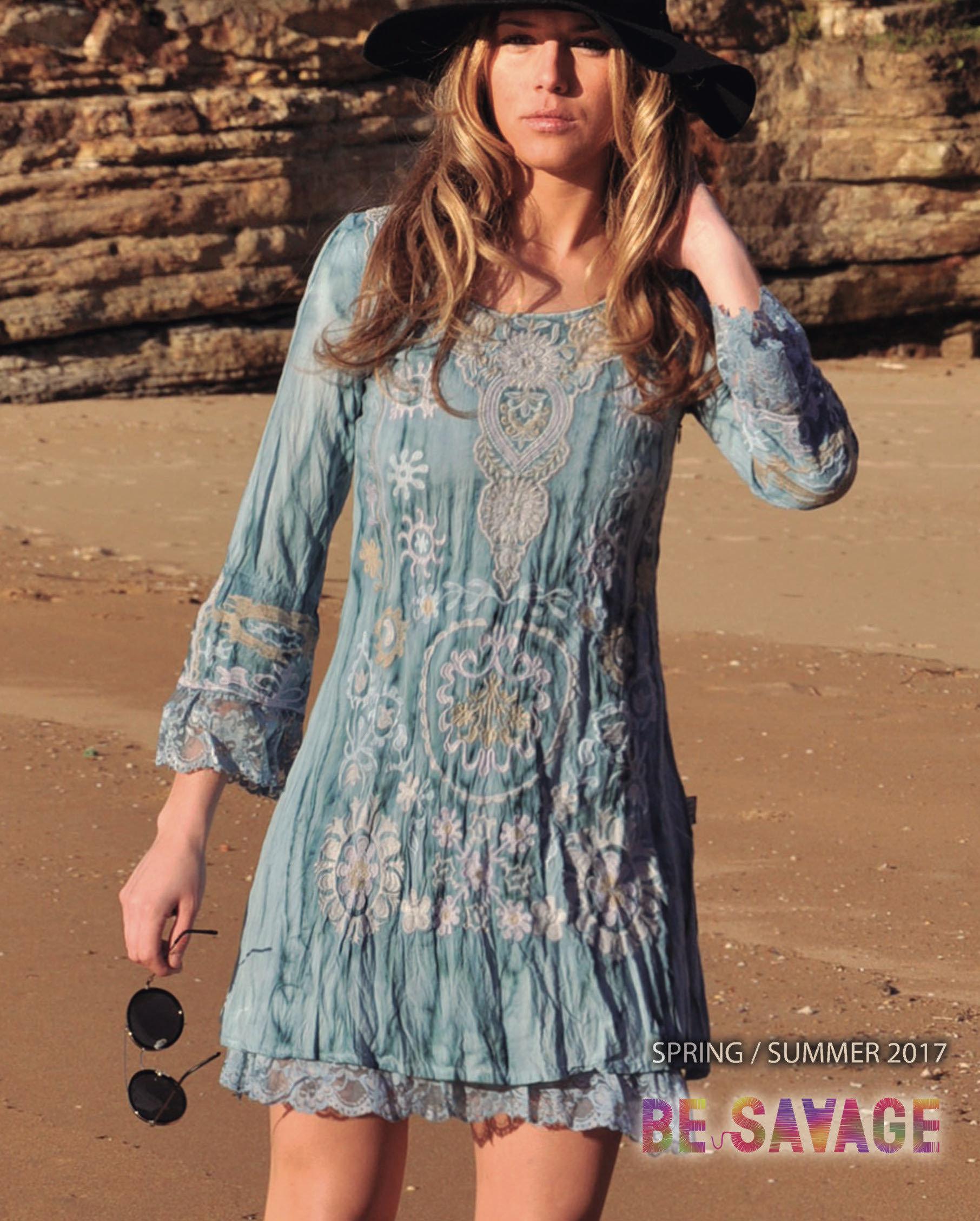 Savage Culture: Crinkled Cotton Nightingale Dress Lissa (More Colors!) SAVAGE_32092