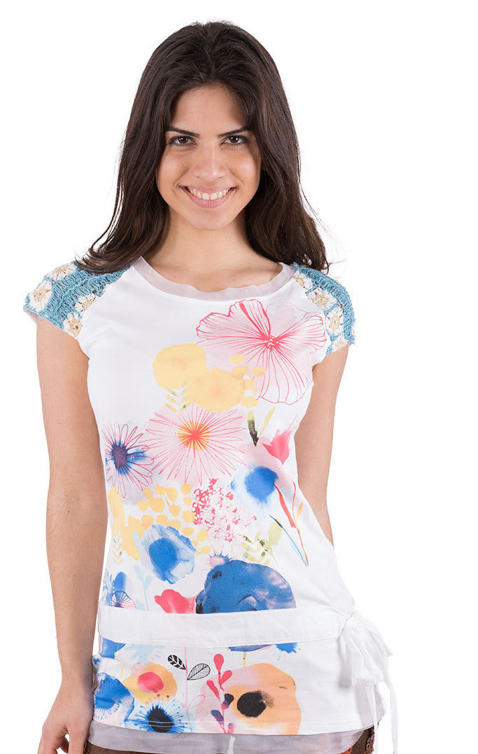Savage Culture: Colors Of The Cherry Blossom Arabesque Tunic Isabel SAVAGE_32057_N