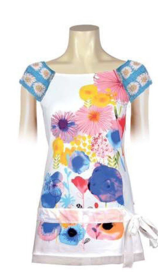 Savage Culture: Colors Of The Cherry Blossom Arabesque Tunic Isabel